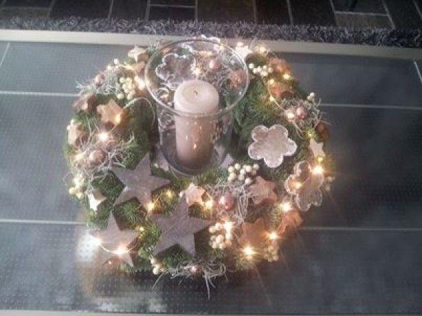 mooie+kerstkrans+met+kaars