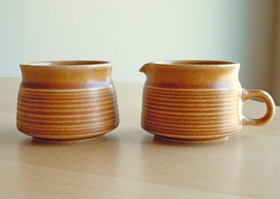 Vintage Denby/Langley Creamer and Sugar in the by DishingItUp $24.00 : vintage denby dinnerware - pezcame.com