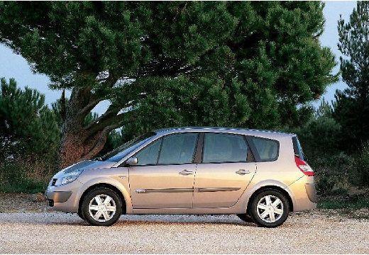 Photo Coté gauche de Renault GRAND SCENIC 2.0 T Luxe Dynamique. Cette image est celle d'une voiture de l'année 2004, moteur Essence.