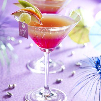 Cocktail framboise fraise vodka fruits de la passion banane ... un délice ...