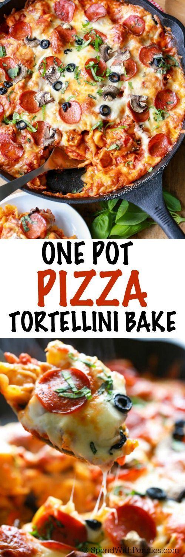 One Pot Pizza Tortellini Bake