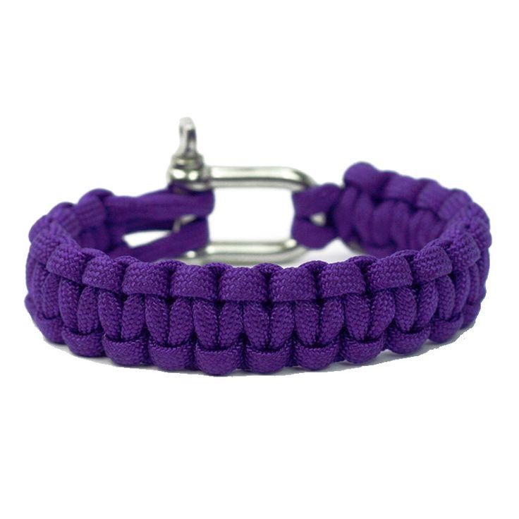 Lila Paracord Armband