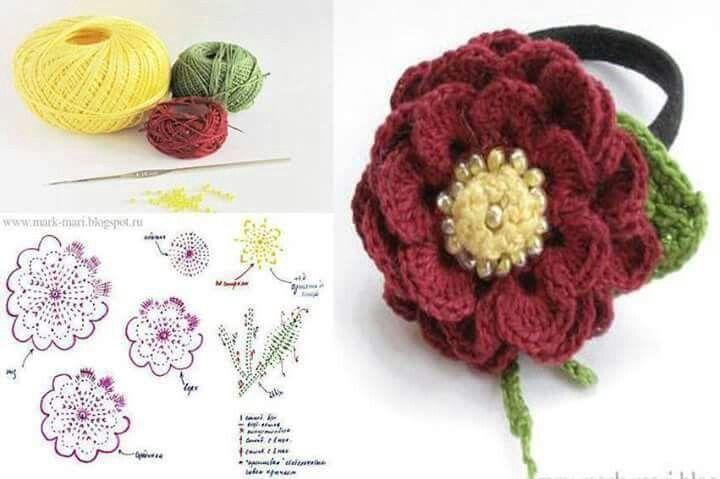 Mejores 700 imágenes de Flores en Pinterest | Flores de ganchillo ...