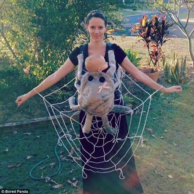 Image result for witch and spider parent child combination costume