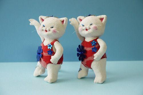 部活シリーズ 「 シンクロナイズドスイミング部 」 - ちりめん猫のハンドメイド日和