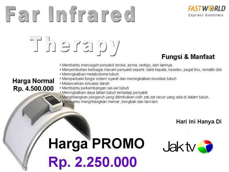 Hanya hari ini saja Far Infra Red Therapy bisa Anda bawa pulang dengan harga spesial Rp2.250.000 dari harga normal Rp4.500.000.  Membantu mencegah Penyakit Stroke, asma, vertigo, dll.  Segera hubungi 082110643415 atau klik tautan berikut http://www.fastworld.co.id/onlinestore/health/far-infra-red-therapy/