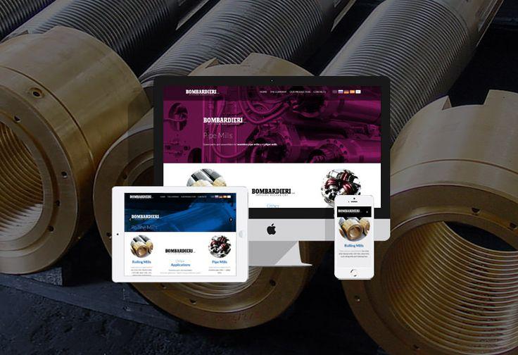 Sito one-page responsive  La storica azienda bergamasca Bombardieri Officine Meccaniche s.p.a., specializzata nella produzione di componenti per mandrini, laminatoi a caldo e a freddo e pezzi meccanici ci ha affidato la realizzazione del nuovo sito web. #webdesign