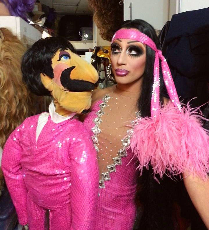 Bianca Del Rio as Cher with Sonny