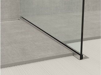 Stainless steel edge profile for floors GLASS PROFILE GPS1 - PROFILPAS
