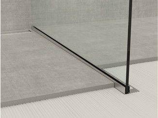Profilé de finition en acier inoxydable pour sols GLASS PROFILE GPS1 - PROFILPAS