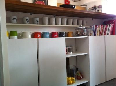Enfilade sur mesure avec deux caissons ikea enfilade Faire table cuisine avec deux meubles ikea