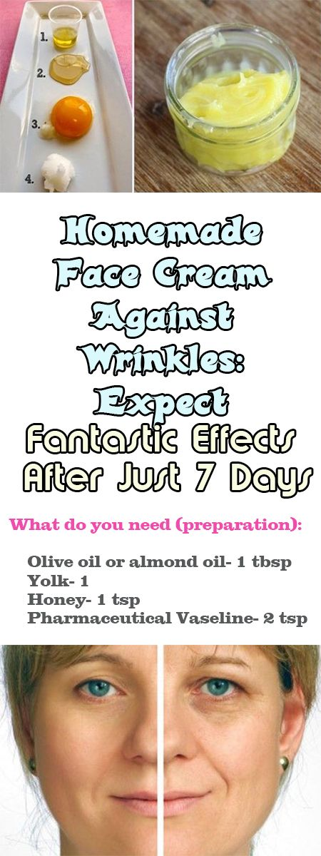 Homemade Face Cream Against Wrinkles: Expect Fantastic Effects After Just 7 Days