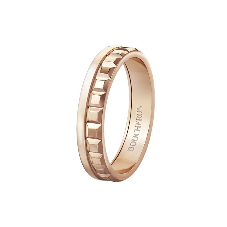 Quatre radiant edition pink gold wedding band Pink gold wedding band