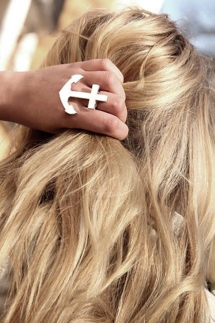 anchor ring.: Anchor Rings, Anchors, Fashion, Style, Jewelry, Beauty, Hair, Anchorring