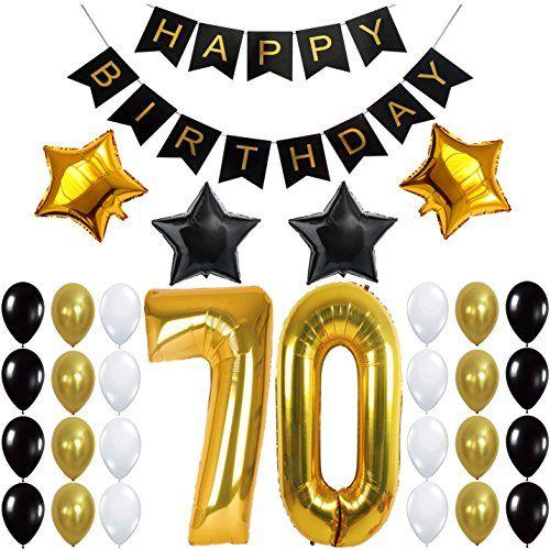 70th birthday decorations party kit happy birthday for Decoration 70th birthday