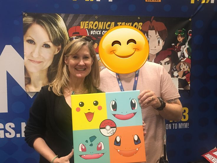 Got my Pokemon canvas signed by Veronica Taylor...Voice behind Ash!!