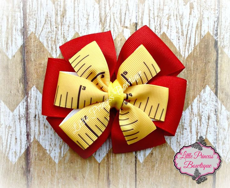 Back to School, Back to School Hair Bow, Back to School Bows, Pinwheel Hair Bow, Pinwheel Bows, Hair Bows by LilPrincessBowtique8 on Etsy