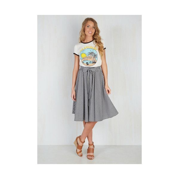 Vintage Inspired Long Full Artisan Aperitifs Skirt ($45) ❤ liked on Polyvore featuring skirts, apparel, black, bottoms, full skirt, flared skirt, long circle skirt, long skirts and mid calf skirts