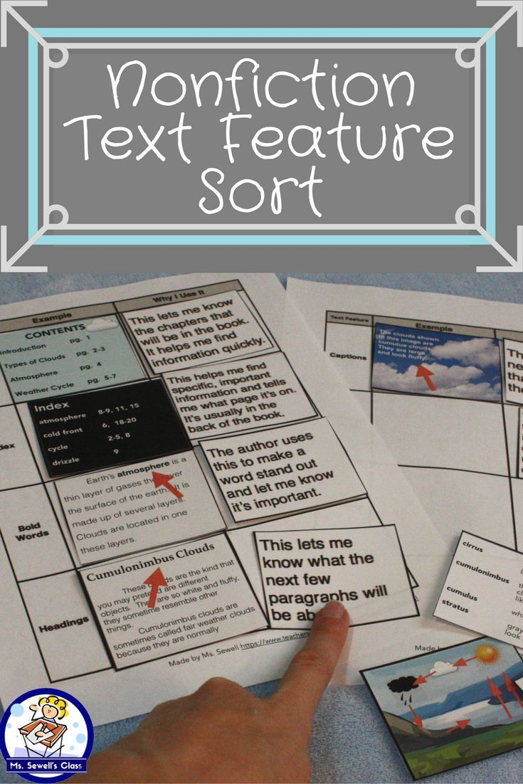 Do your students need help identifying important nonfiction text features? This teachers pay teachers activity will help them compare and contrast as well as identify the table of contents, index, bold words, headings, captions, graphs/charts, and the glossary.