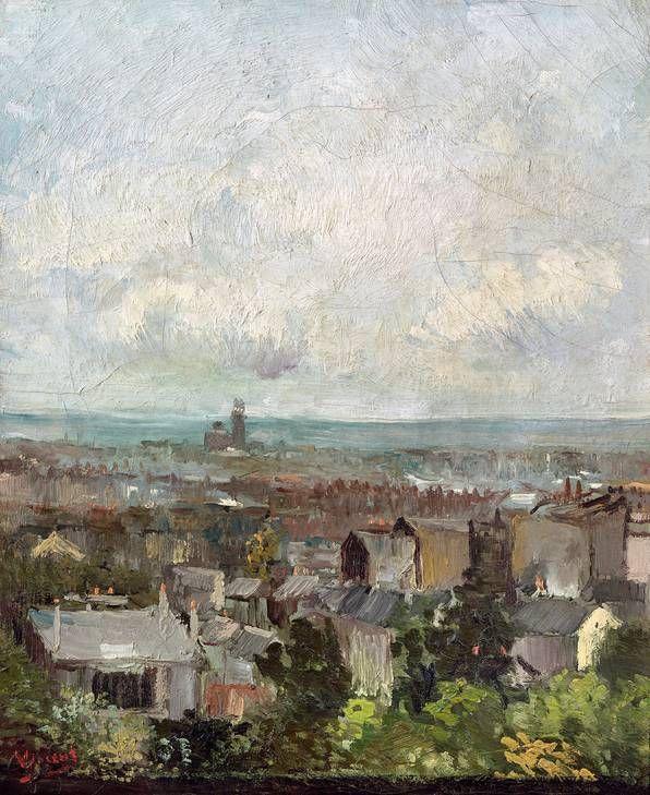 Vincent van Gogh - Rooftops in Paris 1886, National Gallery of Ireland in Dublin, Ireland