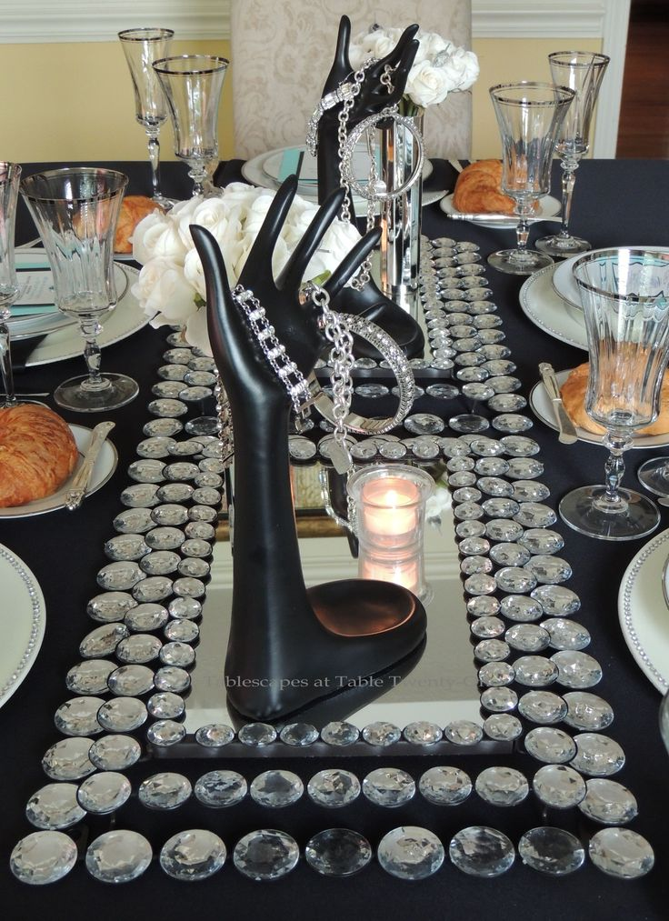 Breakfast at Tiffany's Centerpieces   Tablescapes at Table Twenty-One - Breakfast at Tiffany's - centerpiece