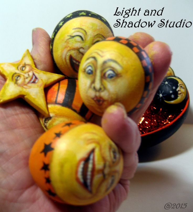 moon gourds - Halloween Stuff