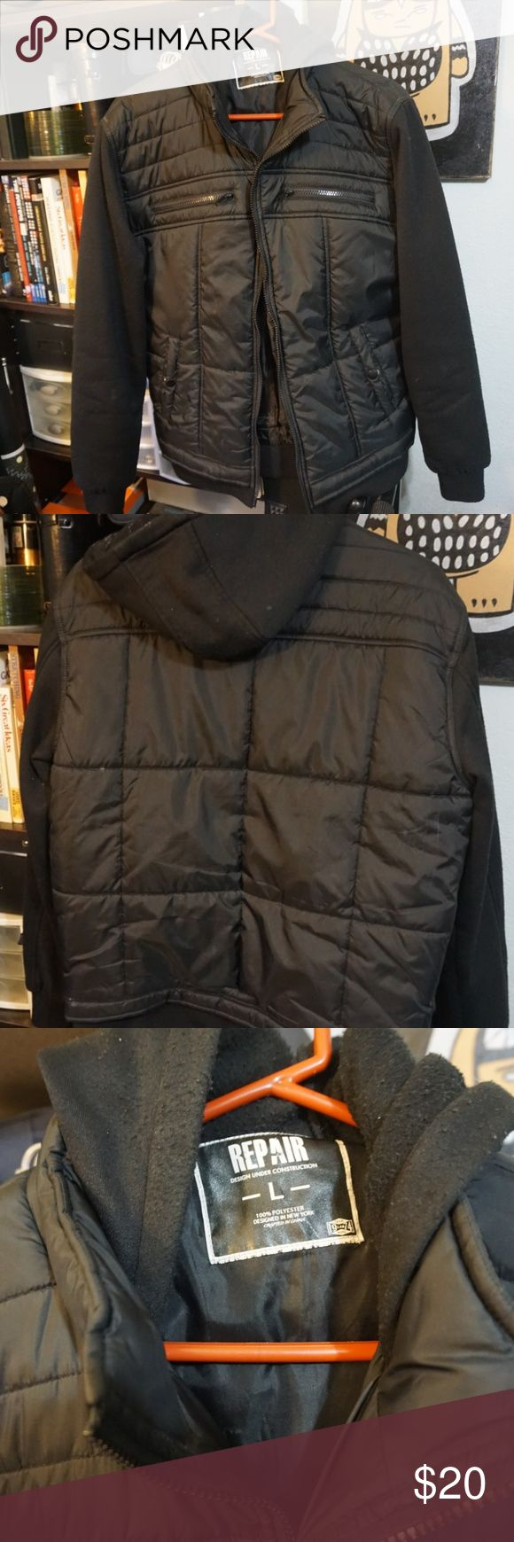 Puffer Jacket Young Men's Puffer Jacket-Men's Street Style  Used Men's-Size Large Brand: Repair Clothing repair Jackets & Coats Bomber & Varsity