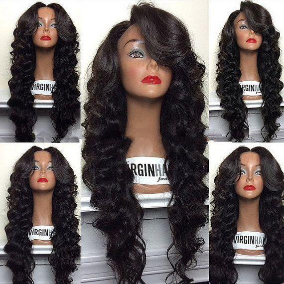 Virgin Brazilian Full Lace Human Hair Wigs by SweetAmoretto