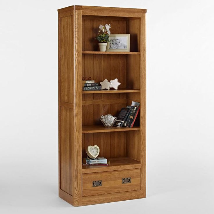 Knightsbridge Solid Oak Bookcase With Drawer (Size Small, Large) -  - Bookcase - Ametis - Space & Shape - 7