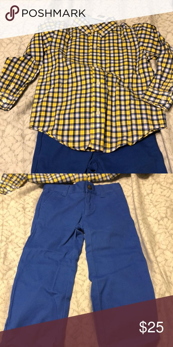 Janie and Jack Captain Shirt Boy/'s Size 3