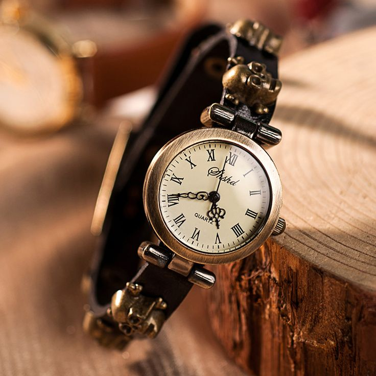 High Quality Vintage Skull Genuine Cow leather watch women ladies fashion dress quartz wrist watch KOW037-in Women's Watches from Watches on Aliexpress.com   Alibaba Group