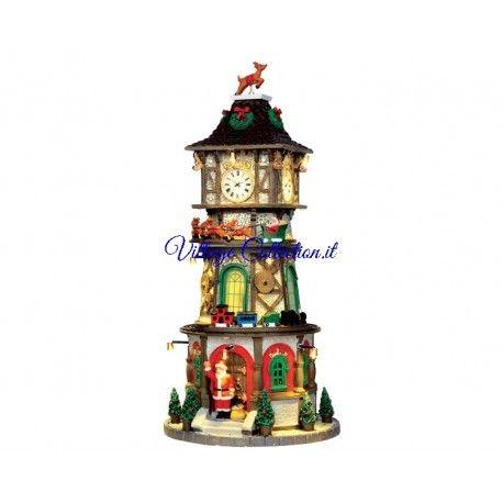 45735 LEMAX CHRISTMAS CLOCK TOWER lemax, caddington, figurines, personaggi lemax, carnival, figurines, personaggi Babbo Natale con la s... www.VillageCollection.it : Italian online shop : Rivenditore Autorizzato per l'Italia Lemax Luville Village