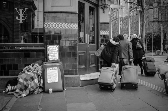 living from a suitcase