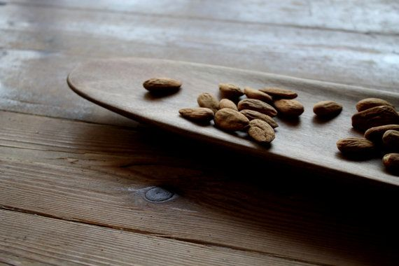 Organic serving tray small walnut tray unique by JaraKacaHandmade