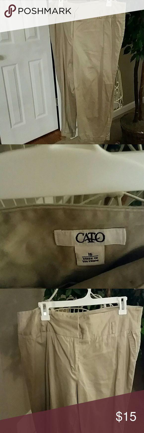 Cato capri kaki pants euc Worn twice Cato Pants Capris