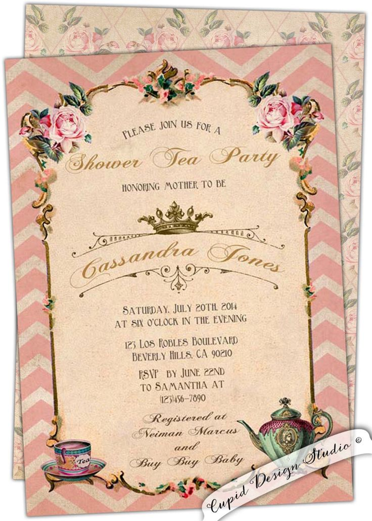 17 Best Images About Bridal Shower Tea On Pinterest