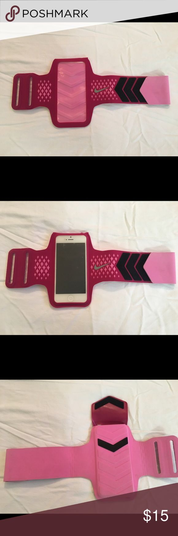 Pink Nike running armband iphone 5/5s Never used, just never fit. Perfect condition. Nike Other