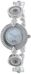 Titan Women's 9903SM01 Theme Raga Intricate Swarovski Elements Jewelry Inspired Steel-Tone Watch