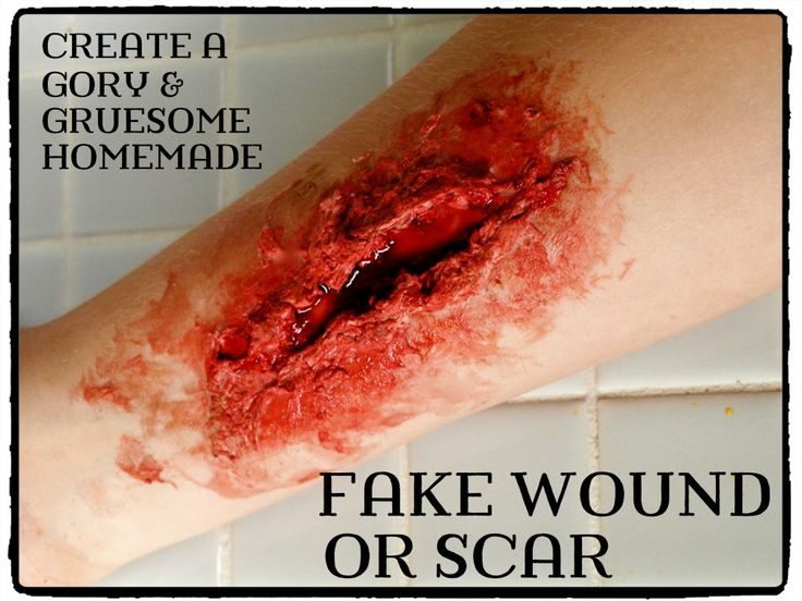 How to make an realistic fake wound for a Halloween costume, using ingredients you already have in your house.