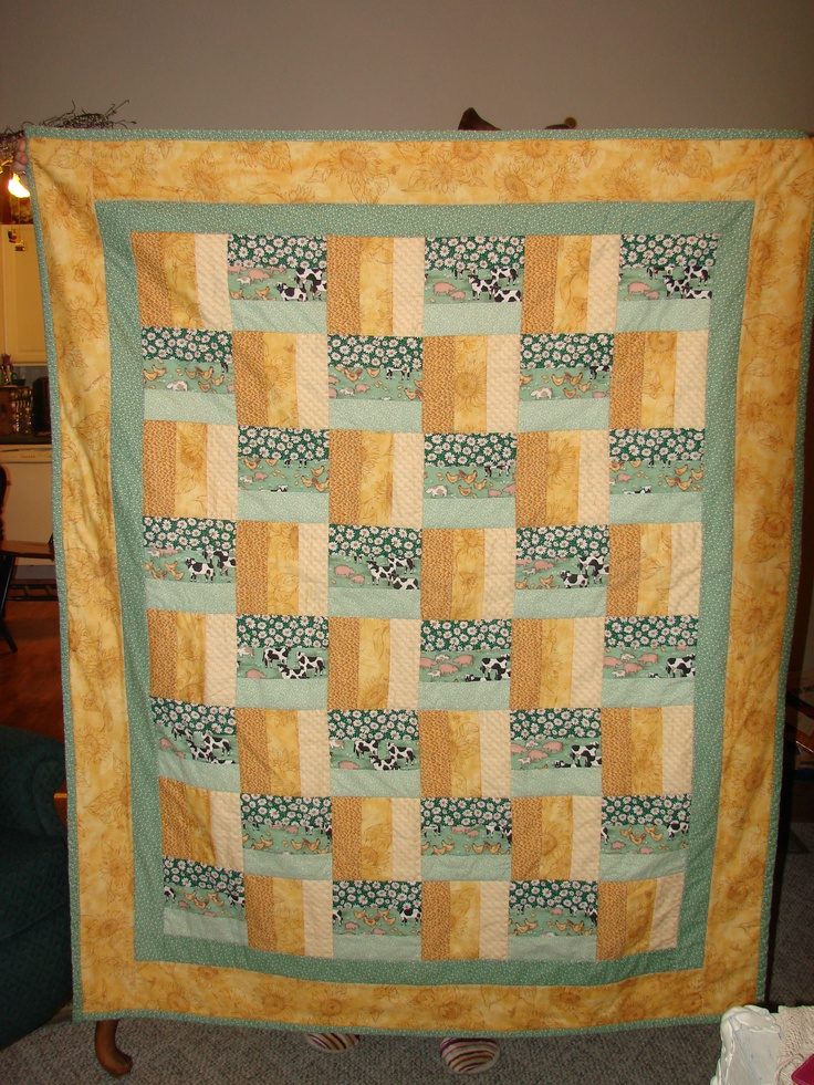 Split Rail Fence Quilt Pattern Yellow Green A Quilt For