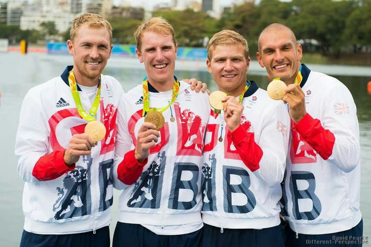 GOLD for the Men's Four - Alex Gregory, Mohamed Sbihi, George Nash and Constantine Louloudis