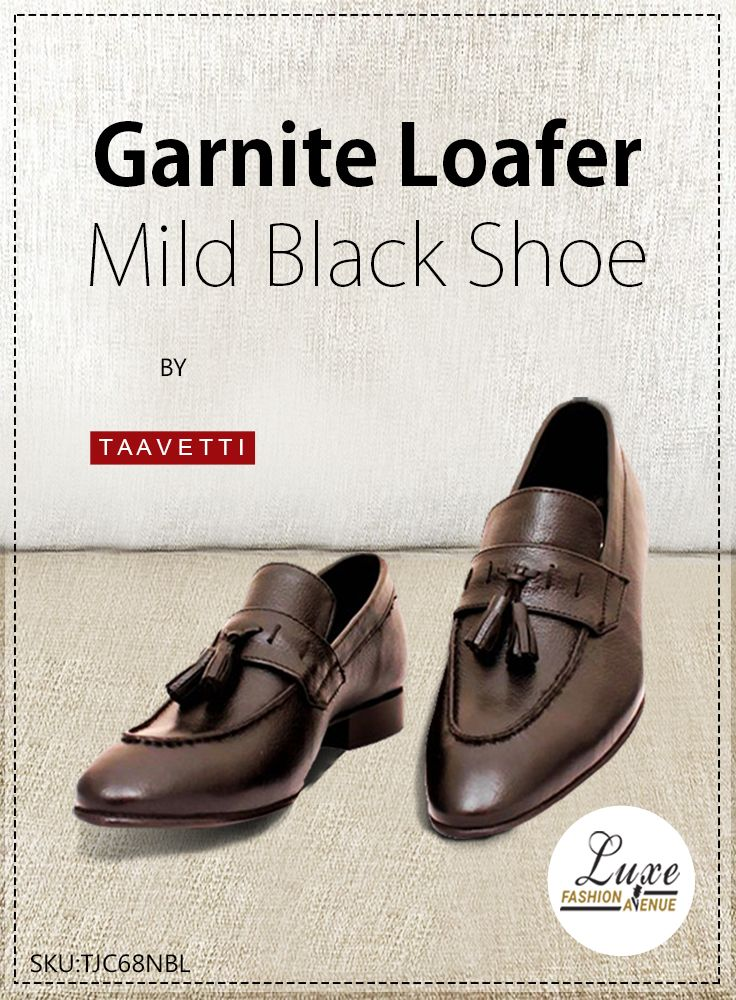 Garnite Loafer Mild Black.     For Details Visit: https://goo.gl/KD8Hx2  #Shoe #loafer #design #genuine #leather #handcrafted #formal #premium