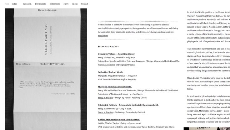 Vertical Scroll Motions   http://www.heinilehtinen.com/