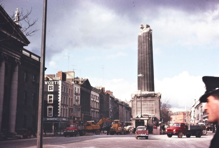 "https://flic.kr/p/bosGZE | March 8, 1966 | A half-demolished Nelson's Pillar on O'Connell Street, Dublin.  From the front page of the Irish Times on Tuesday, 8 March 1966: ""The top of Nelson Pillar, in O'Connell street, Dublin, was blown off by a tremendous explosion at 1.32 o'clock this morning and the Nelson statue and tons of rubble poured down into the roadway. By a miracle, nobody was injured, though there were a number of people in the area at the time.""  Date: Tuesday, 8 Mar..."