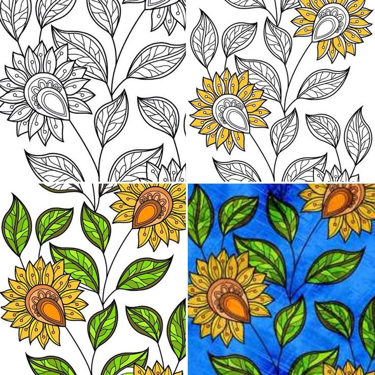 #coloringbook #coloringappforadults #therapy #process #painting #nofilter #colorear #librodecolorear #colores #girasoles #sunflowers #relax #colorcure #descubreelartistaquehayenti