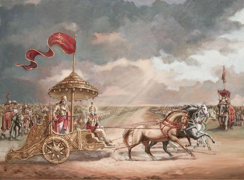 Bhagavad Gita - Krishna counsels Arjuna