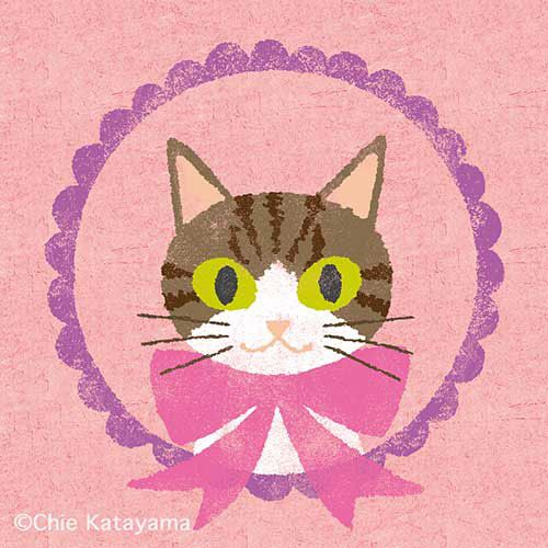 Chie Katayama illustration.#illustration #draw #art #cat #イラスト #イラストレーション #猫