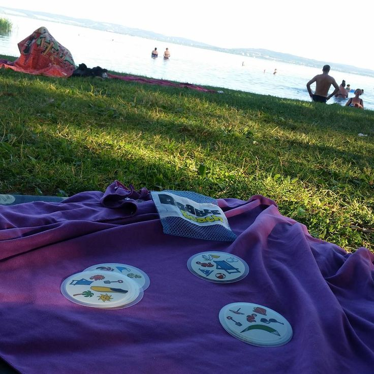 Dobble Beach a Balaton partján is 😎 #mik #nofilter #balaton #dobble #egyszerbolt #tarsasjatek