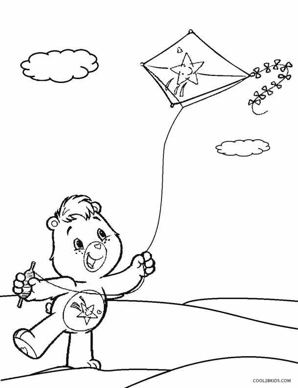 care bears coloring pages oopsy - photo#1