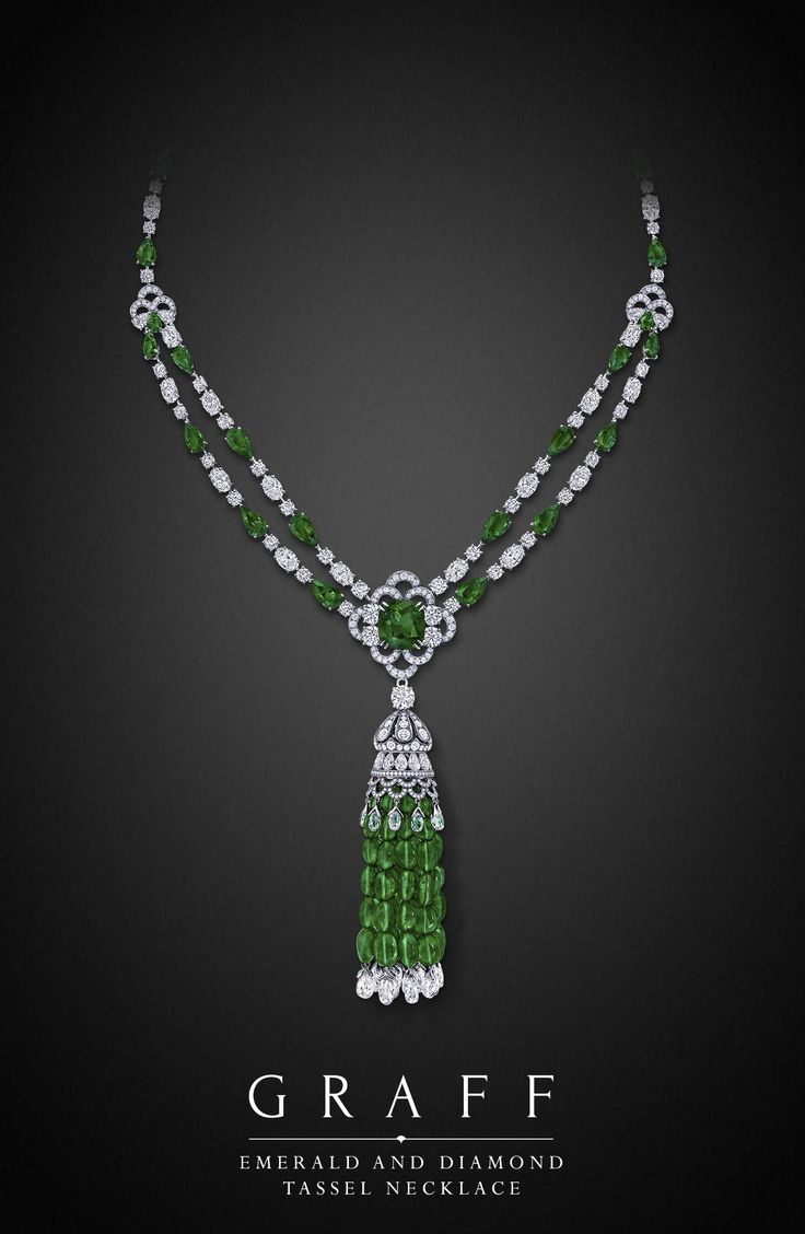 Graff  Emerald and Diamond Tassel